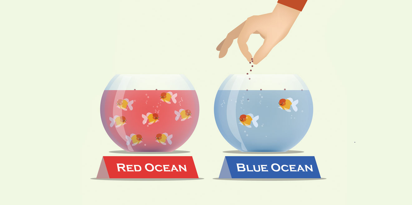 3 steps to stop competing on price in the digital marketing industry - blue ocean, red ocean strategy